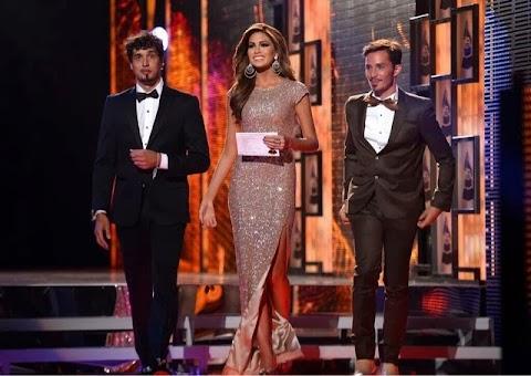Miss Universe 2013, María Gabriela Isler, en los Grammy Latino