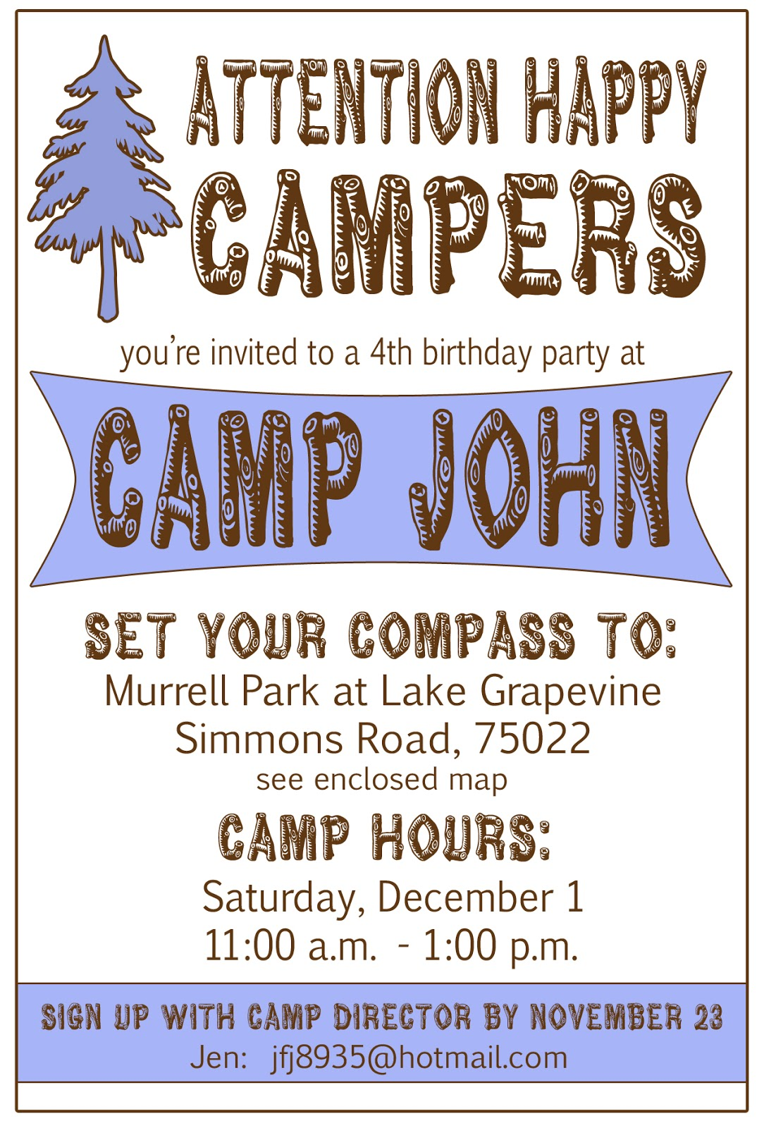 Displaying 18> Images For - Camping Birthday Party Invitations