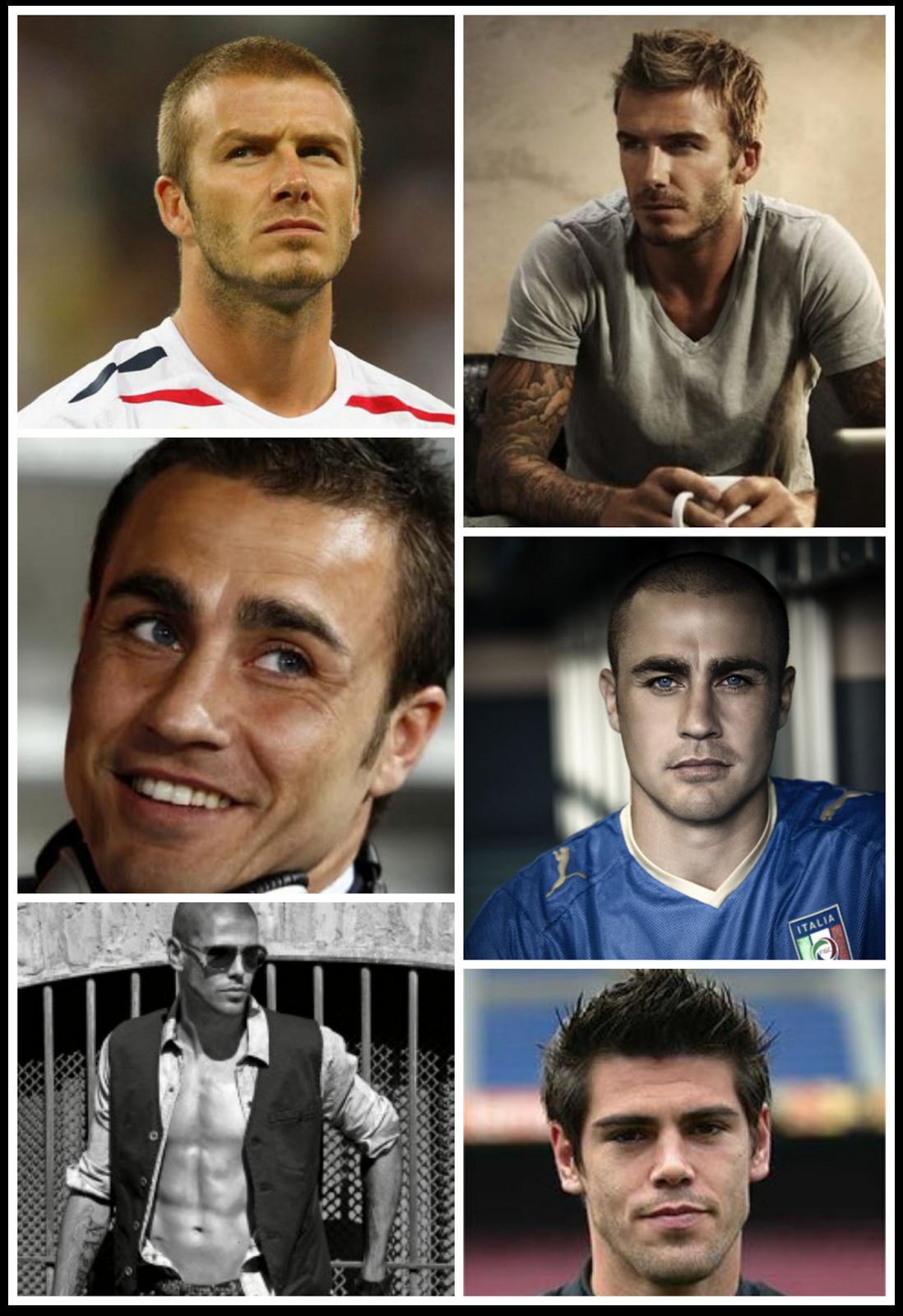 Look rapado: David Beckham, Fabio Canavaro, Víctor Valdés