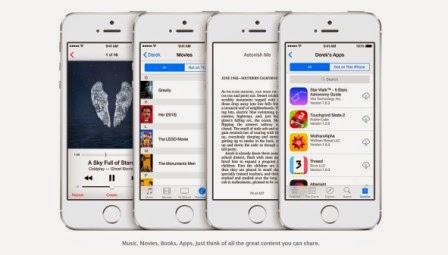 Inilah fitur baru dari iOS 8, foto dan video - famili sharing