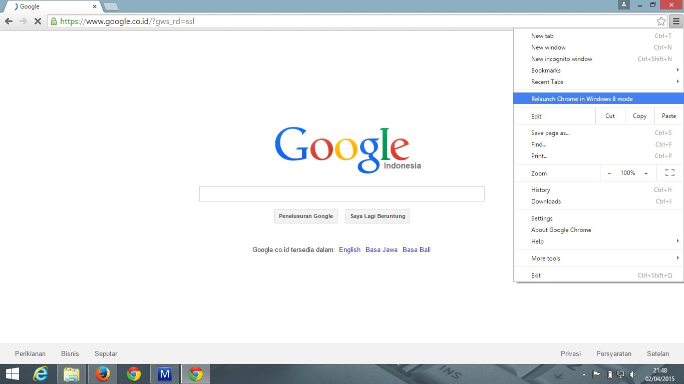 Menu Chrome