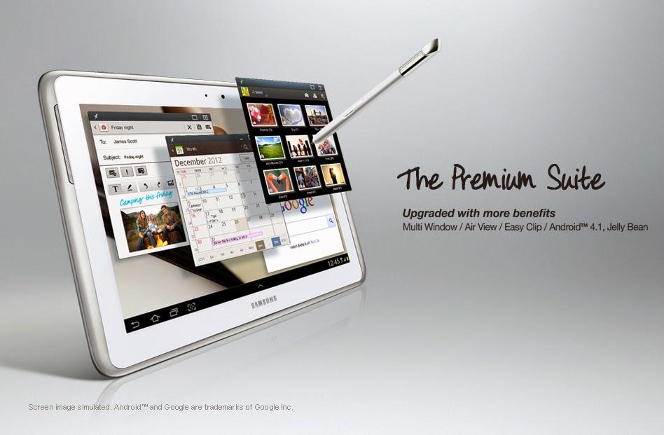 Samsung 10 inch Tablet Specs