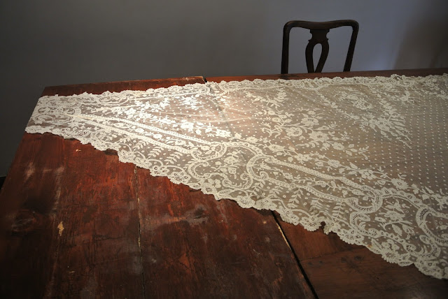 Napoleon era lace shawl