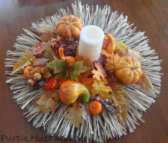 How to make a Raffia Fall Centerpiece