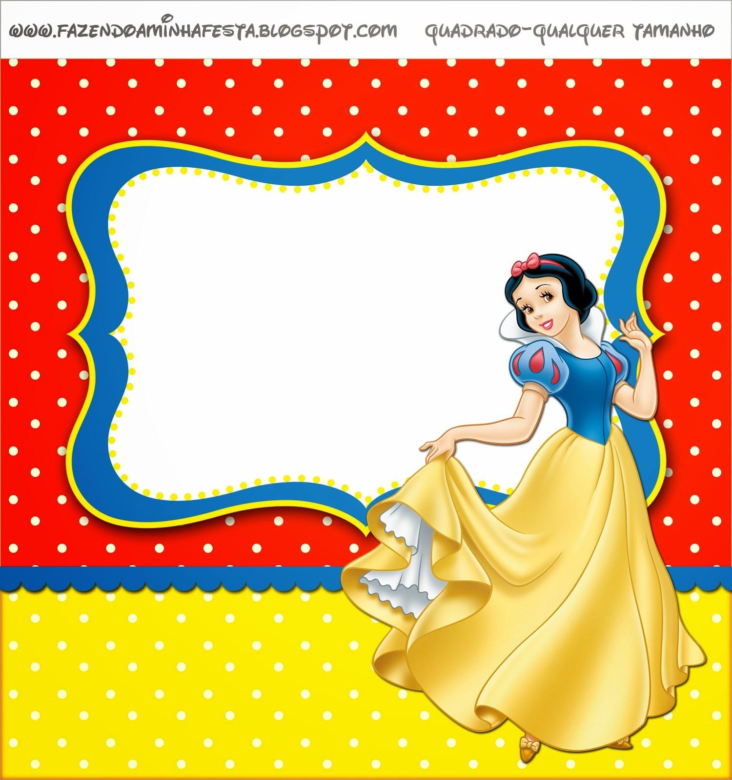 Snow White Printable Labels Free