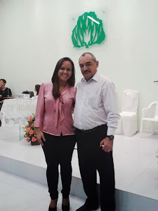 Prof. Pádua e Nathalie Alves, participando ativamente da vida da IPCA.