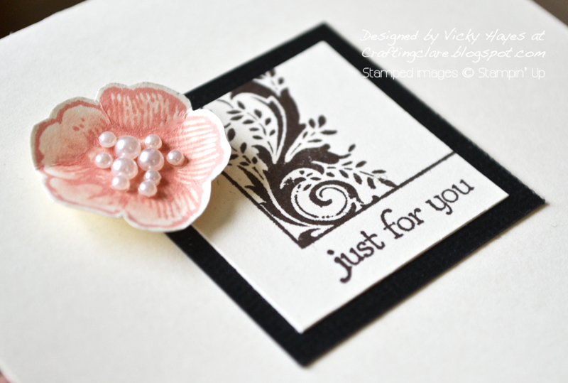Close up of Everything Eleanor flower by Stampin Up and Postcard image
