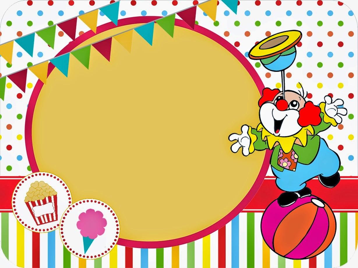 El circo invitaciones y etiquetas para candy bar para - Colocar fotos en pared ...