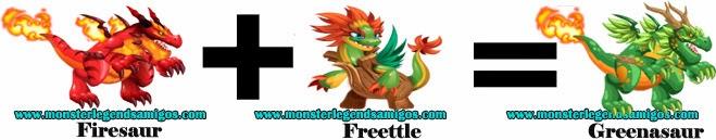 como obtener el greenasaur en monster legends formula 1