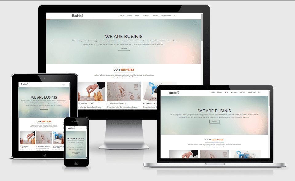 Businis Responsive Premium Blogger Templates Themefinite