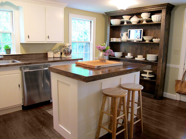 Jenny Steffens Hobick: Kitchen Island  DIY Kitchen Island with Built