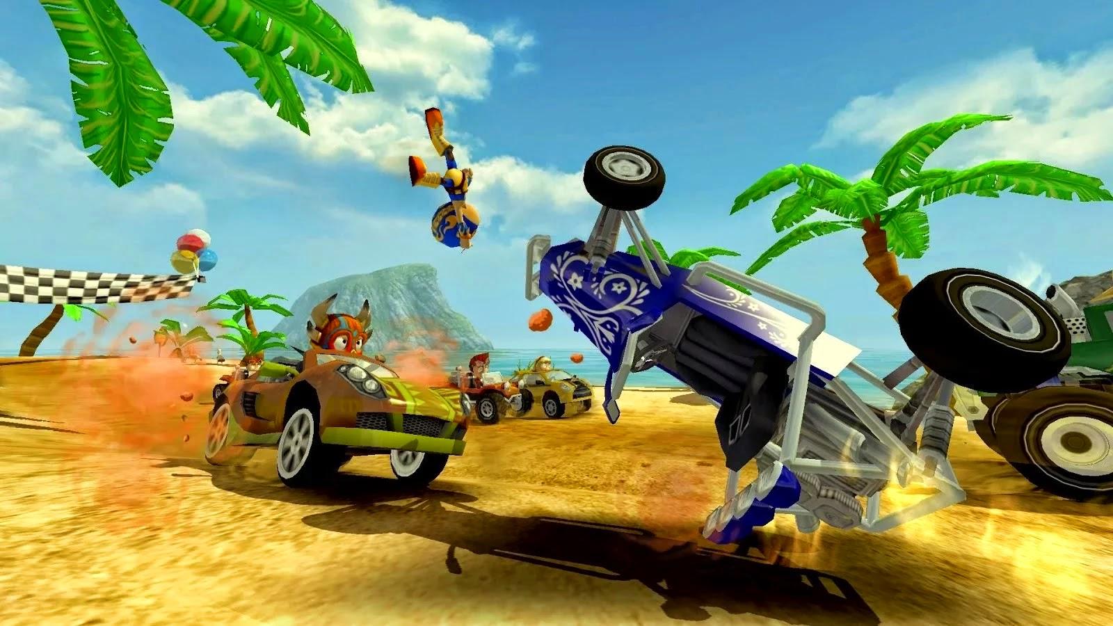 تحميل لعبة beach buggy racing للكمبيوتر مهكرة