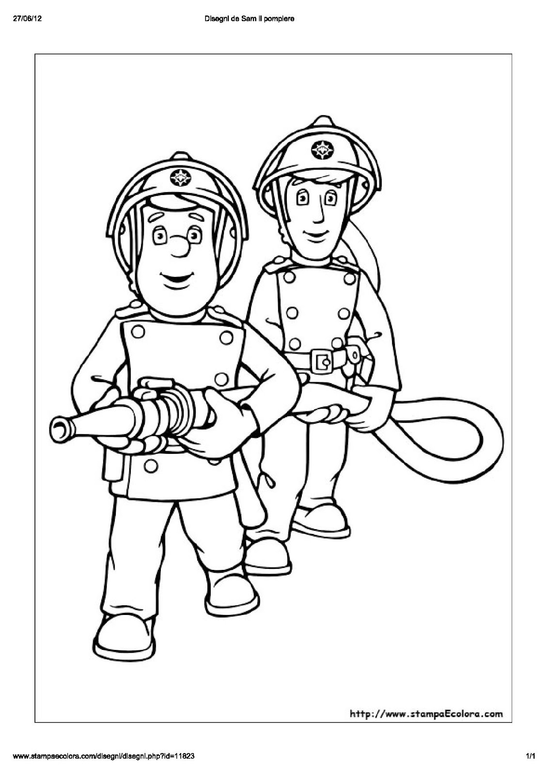 Ausmalbilder Feuerwehrmann Sam Drucken : Niedlich Feuerwehrmann Sam Bilder Drucken Zeitgen Ssisch