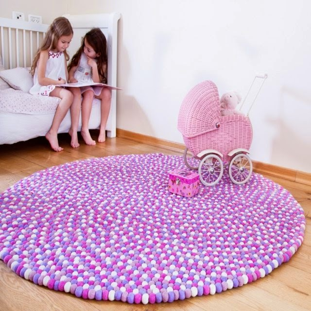 Sweet Pink DIY Rug For Girl Room. Exlusive DIY Area Rug A Creative Touch In