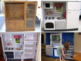 Muebles Renovados, Cocina de Juguete a Escala