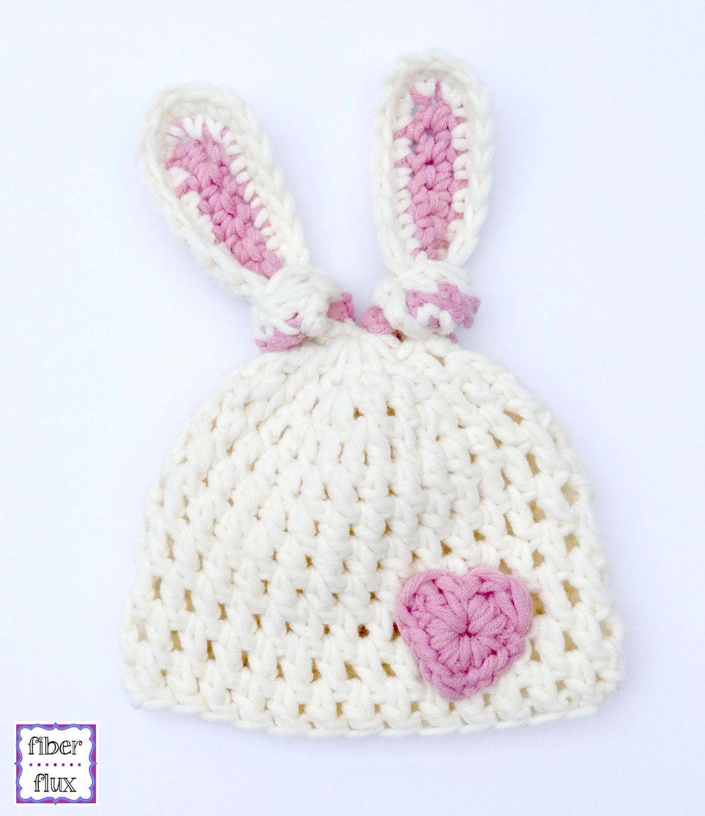 Crochet Pattern For Newborn Bunny Hat : Fiber Flux: Free Crochet Pattern...Newborn Bunny Knot Hat!