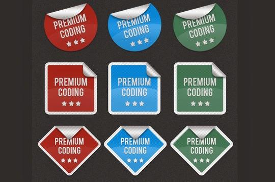6 Sets of Fancy Stickers