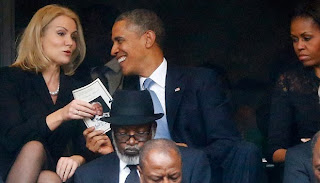helle thorning anda obama photos