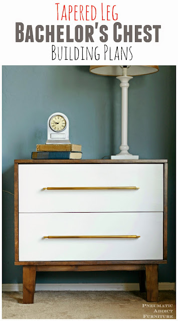 Free building plans for modern bachelor's chest nightstand