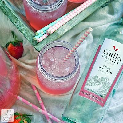 Moscato Pink Lemonade | by Life Tastes Good