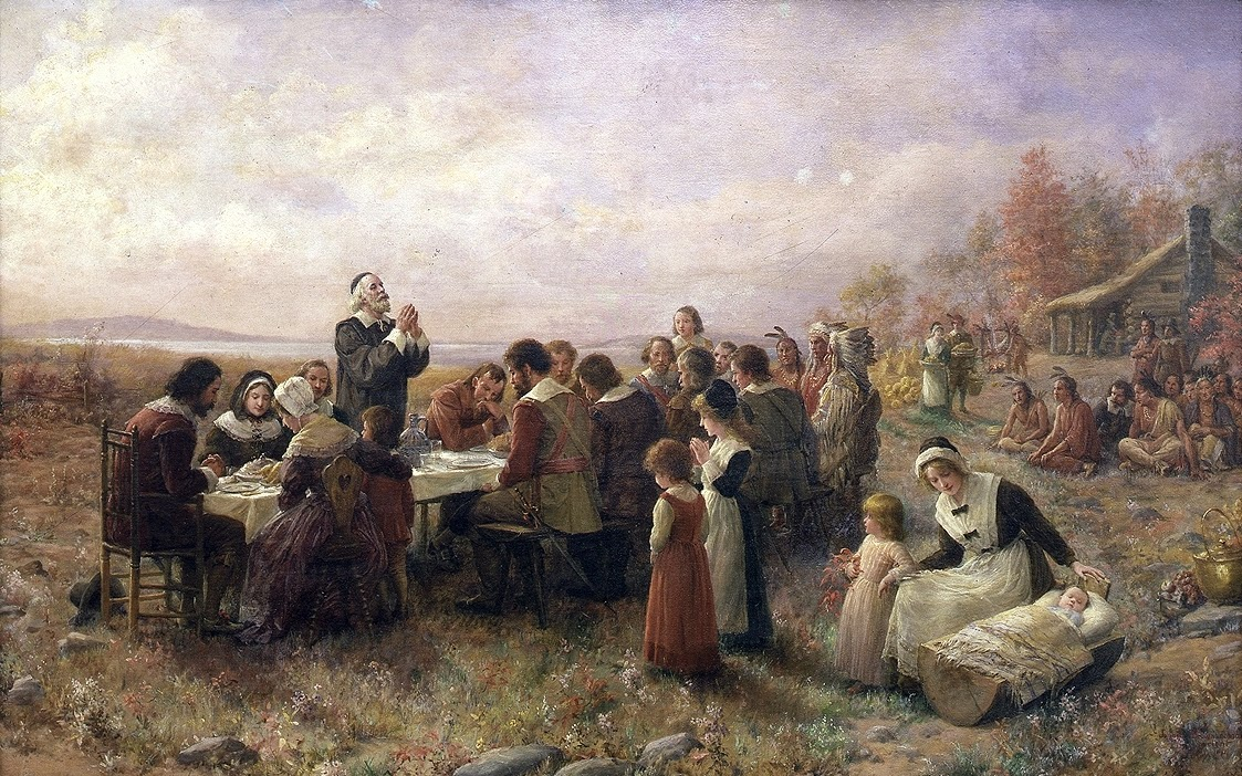 The First Thanksgiving at Plymouth, by Jennie A. Brownscombe