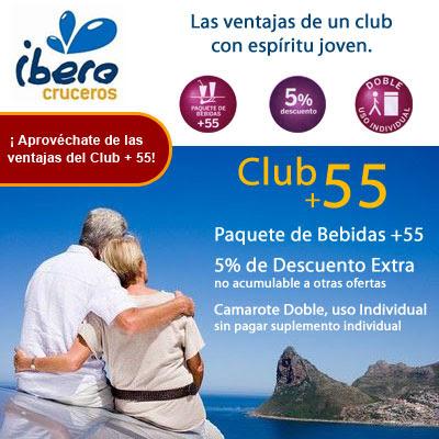 Cruceros para mayores de 55 años con Iberocruceros