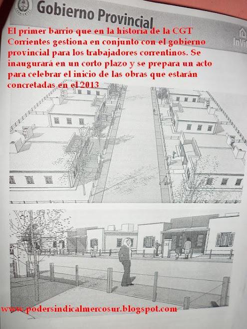 PLANO DE LA VIVIENDA DEL BARRIO DE LA CGT CONDUCCIÓN SUARÉZ