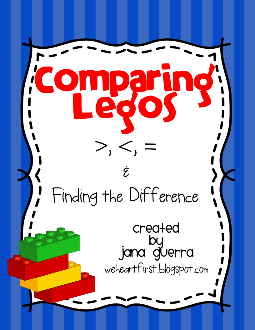 http://www.teacherspayteachers.com/Product/Comparing-Legos-Greater-than-and-Less-than-1081122