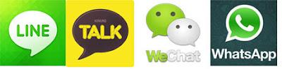 KakaoTalk, Line, WeChat, WhatsApp