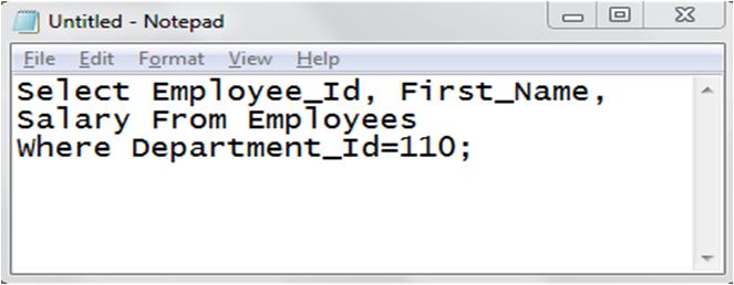 notepad, database, sql