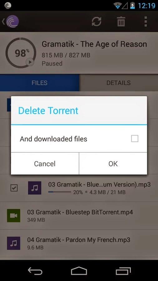 BitTorrent®-Torrent Downloader v2.62 Unlocked