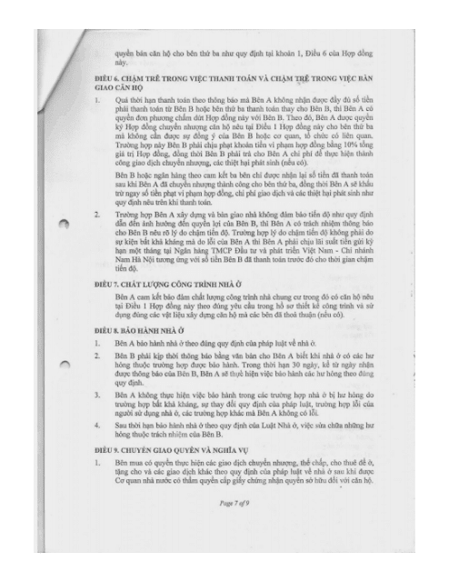 Trang 7 Chung cư hh3 linh đàm