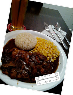 secret recipe, grill blackpepper chicken, ice passion tea