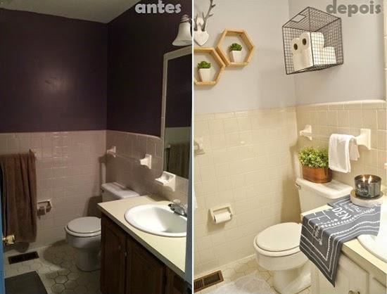 banheiro iluminado