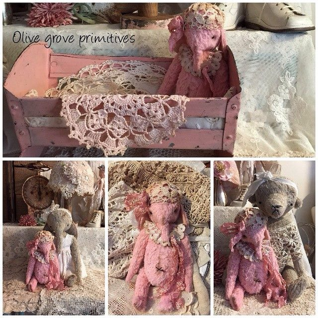 Vintage pink elephant