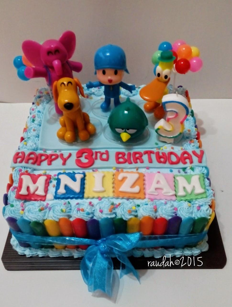 Dapur Cake Dan Cookies Pocoyo Birthday Cake For Nizam