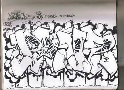 Graffiti Fonts Wildstyle Sketches On Wall