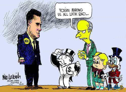 Romney mcduck look bad