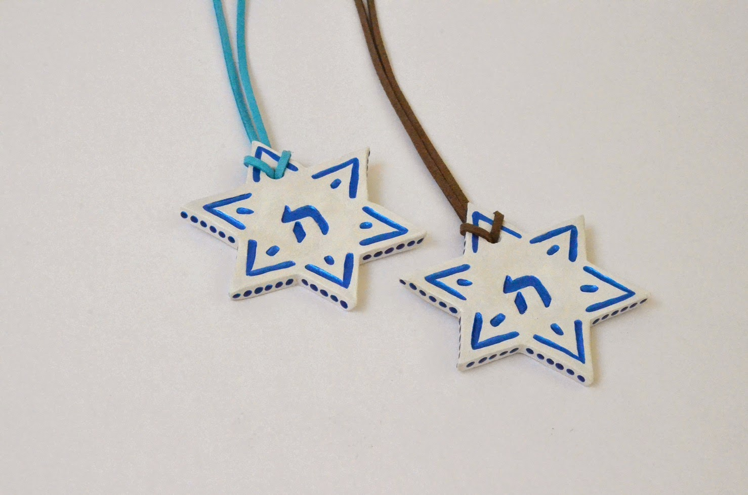 ceramic magen david star jewish ornament judaica art