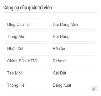 Thêm công cụ cho quản trị viên vào website cho Blogger