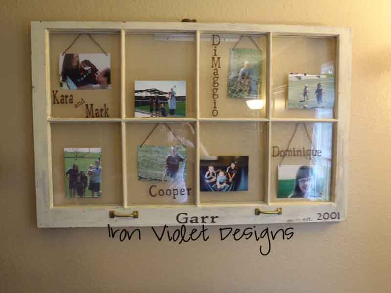 Showing off and i need you sugar bee crafts for How to use an old window as a picture frame