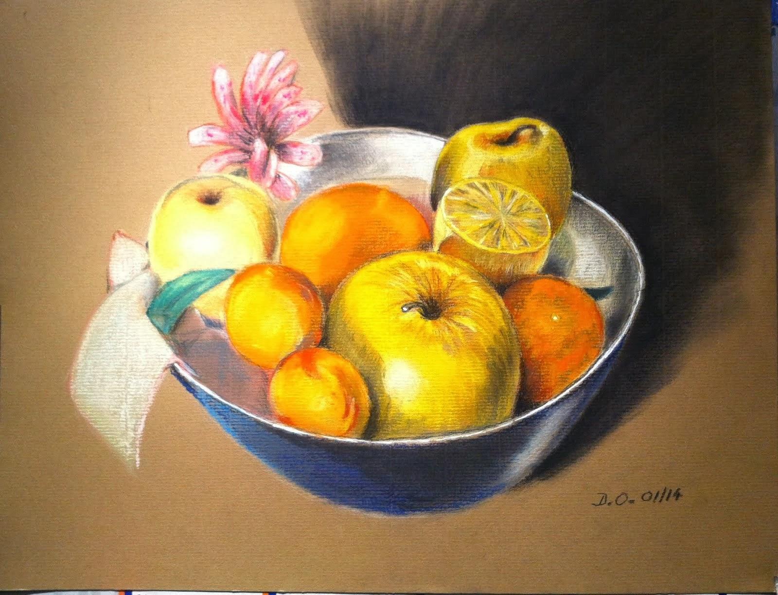 Nature morte (coupe de fruits) 2014
