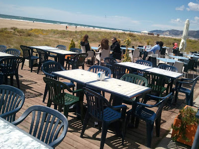 Snack bar beside Castelldefels beach
