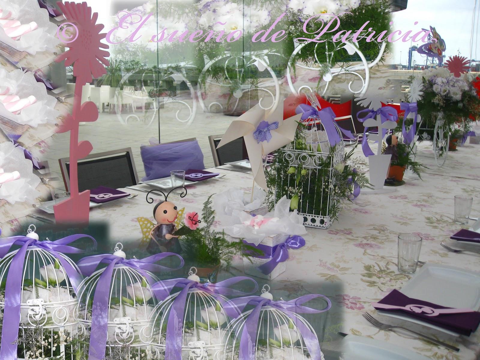 Un sue o color violeta el sue o de patricia for Decoracion mesa comunion nina
