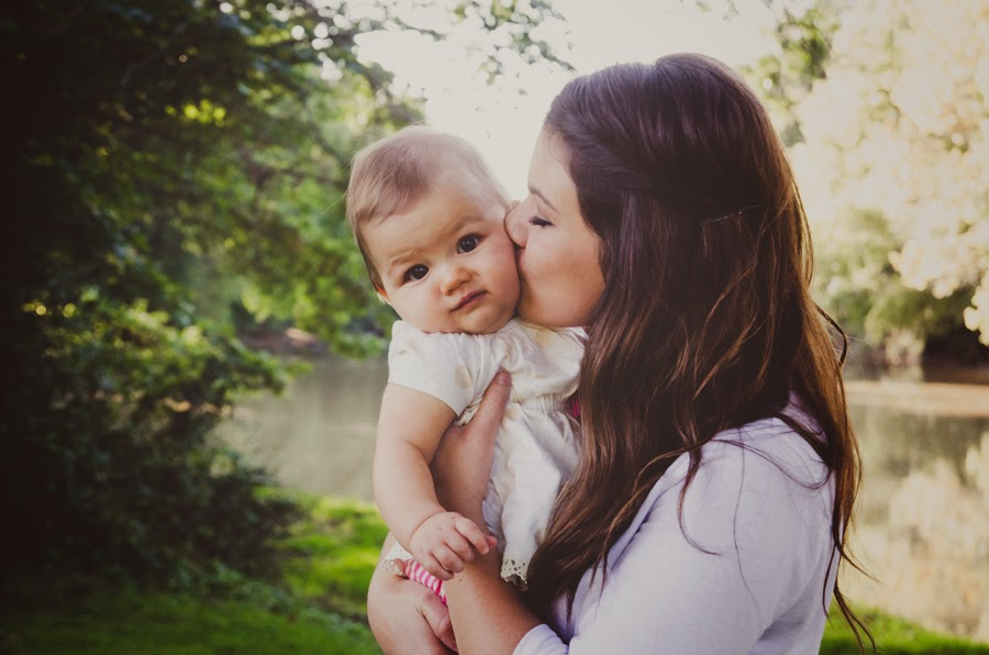 love from her mom at a natural light photography session in indianapolis