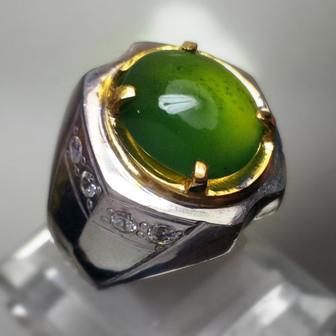 Cincin Batu Akik Ijo garut, Jual cincin batu permata mulia harga muah