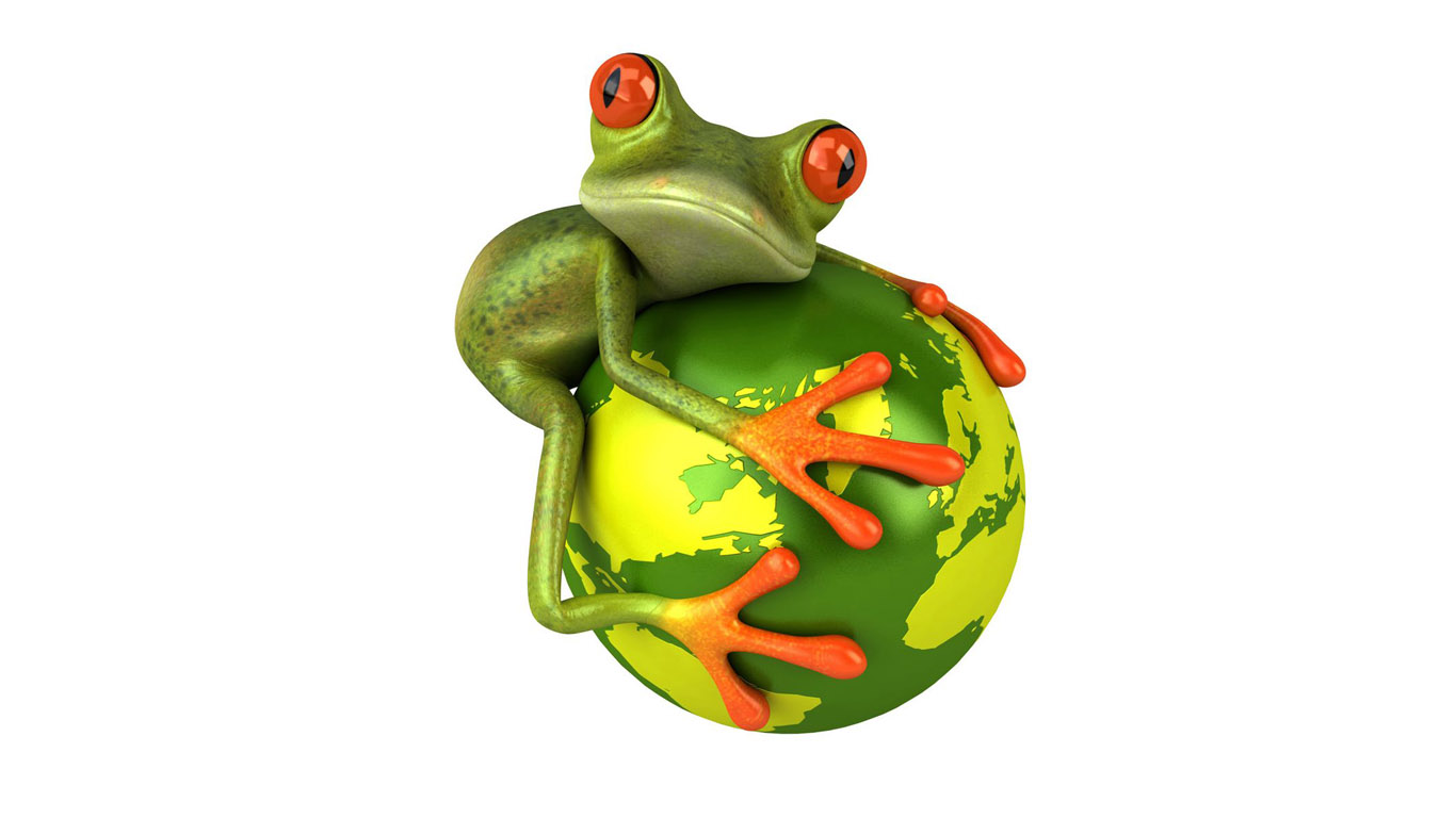 With Love Heart Funny Cartoon Frog Dancing