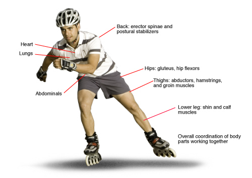 My fitness blog: Benefits of inline (roller) skating