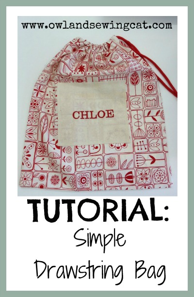 how to make a simple small drawstring bag