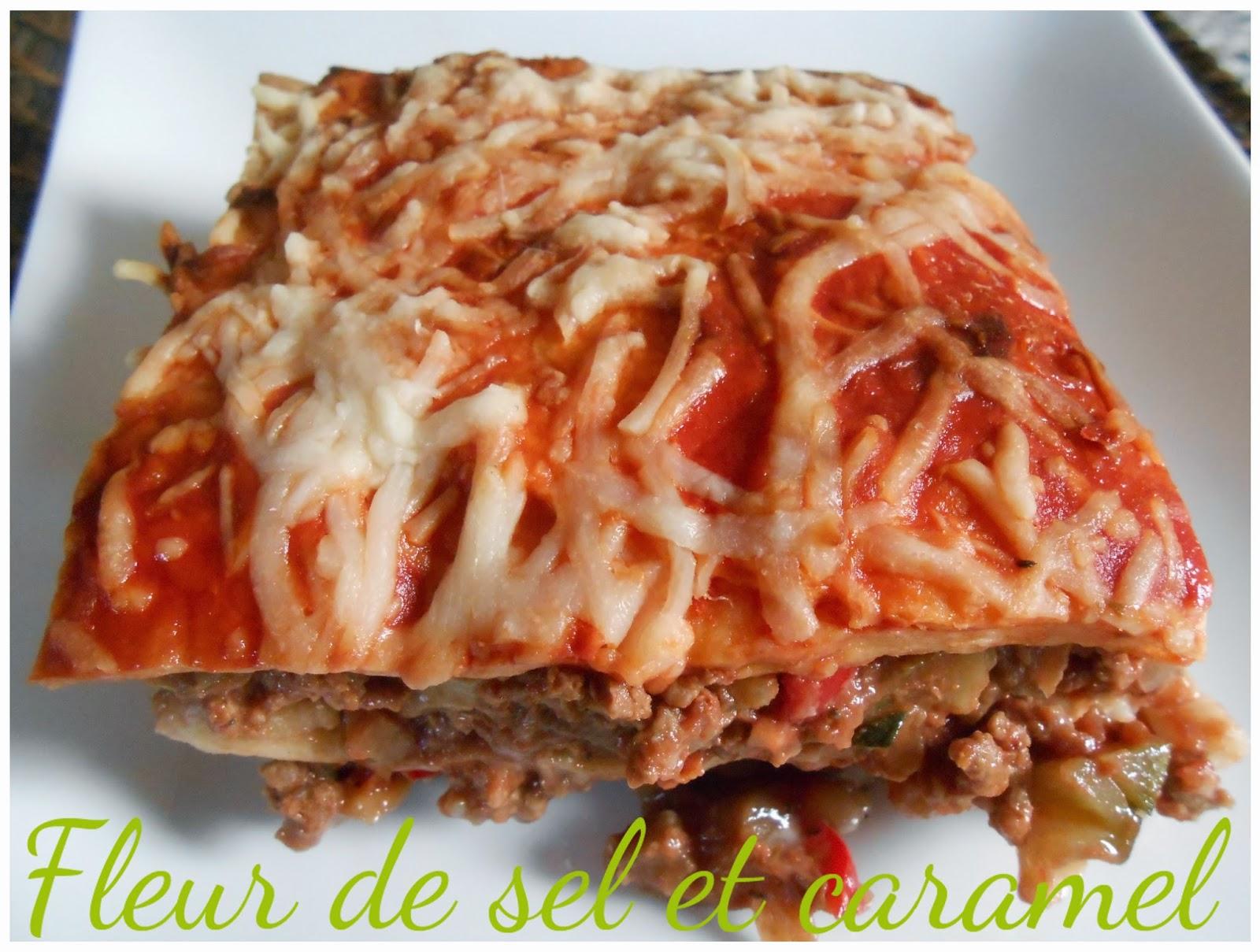 Lasagnes revisitée aux tortilla et légumes